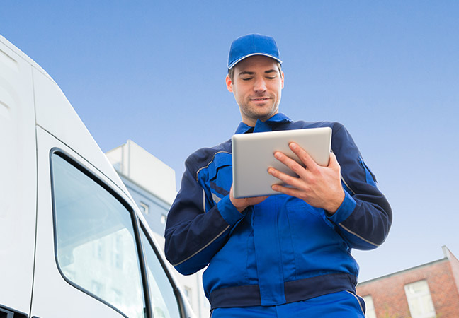 Mobile device management for logistics