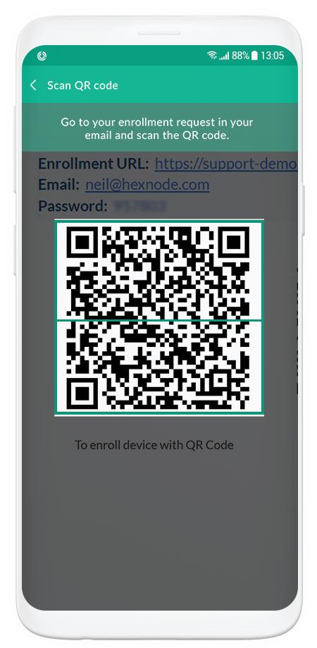 QR Code based enrollment