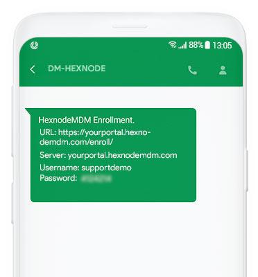 SMS enrollment