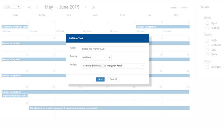 project interactive calendar